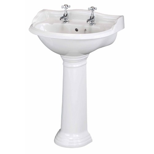 Trueshopping White Ryther Bathroom Basin Sink