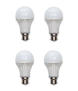 5W D-Light PVC LED Bulb (White, Pack Of 4)
