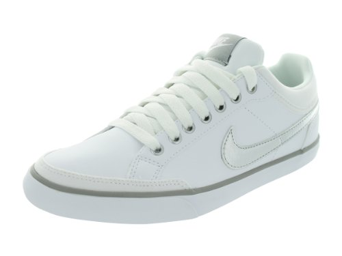 Nike Women's Capri III LTH White/Metallic Silver Casual Shoes 7 Women US