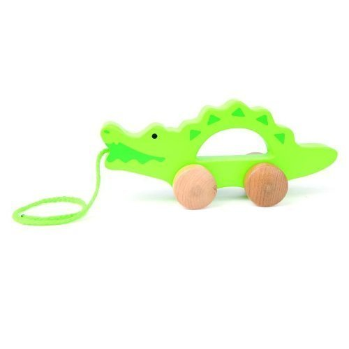 Hape Push And Pull Crocodile, Green