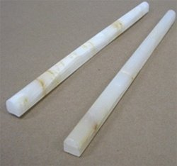 Small Sample of White Onyx Pencil Molding
