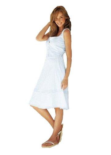 romantisches sommerkleid creme wei gr 34 neu 030 ebay. Black Bedroom Furniture Sets. Home Design Ideas