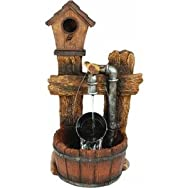 dib Global Sourcing WXFO2400-S Birdhouse Pail Fountain