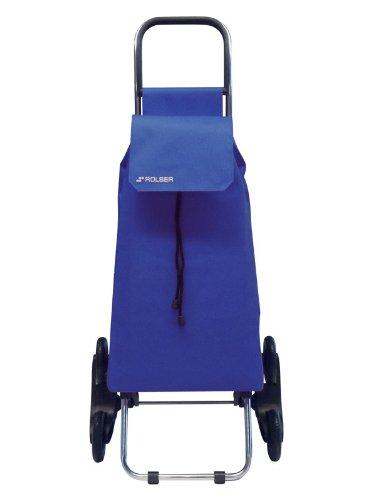 Rolser SAQ006 Chariot de courses monte-escalier à 6 roues avec housse en nylon Bleu