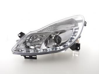 Drl Daylight Headlight Opel Corsa D Yr. 06- Chrome