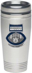 Auburn Tigers 2010 BCS National Champions Football Logo Travel Tumbler
