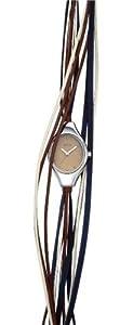 Opex - X2341LA4 - Filante - Montre Femme - Quartz Analogique - Cadran Noir - Bracelet Cuir Bleu/Brun/Doré
