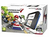 Nintendo Handheld Console - Black/Blue 2DS with Pre-installed Mario Kart 7 (Nintendo 3DS)
