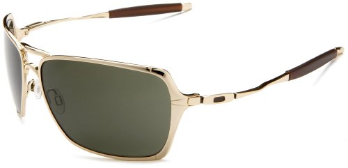 Oakley Men's Inmate Sunglasses,Polished Gold Frame/Dark Grey Lens,one size