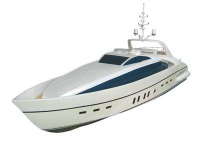 Bright Sun Luxus Yacht 1,30Meter-silber- 26 ccm Benzinmotor Wassergekühlt KEIN Spielzeug!