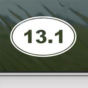 13 1 oval half marathon white sticker decal for 13 1 window sticker