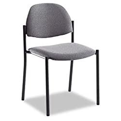 Comet™ Stacking Chairs without Arms, Gray Olefin Fabric, 3 per carton (GLB2172BKIM11)