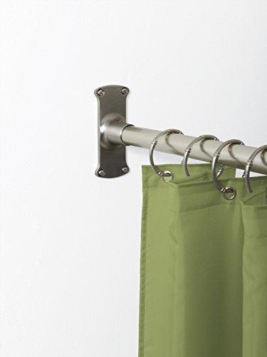 zenna home 33941bn neverrust aluminum l shaped corner shower curtain rod ebay. Black Bedroom Furniture Sets. Home Design Ideas