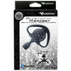 Subsonic SUB911BHBK Black and White Camo Bluetooth Headset for PS3