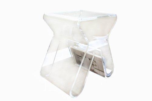Baxton Studio Carlina Acrylic Stool/End Table, Clear