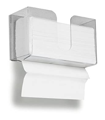 TrippNT 51912 Dual Dispensing Paper Towel Holder, 150 Multi-Fold Paper Towel Capacity and Peelable Protective Film