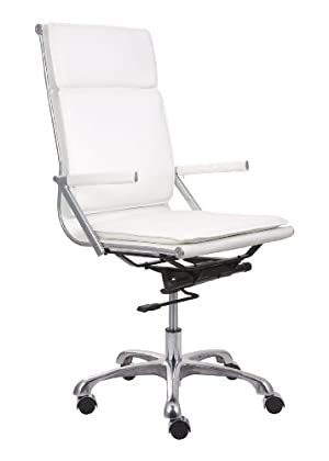Zuo Lider Plus High Back Office Chair, White