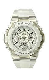 Baby-G Ana-Digi Multifunction White Strap White Dial Women's Watch #BGA-110-7BDR