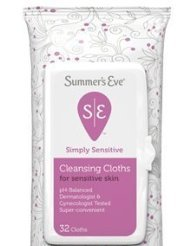 Summer's Eve Simply Sensitive Cleansing Cloths, for Sensitive Skin, 32 ct. Personal Healthcare / Health Care
