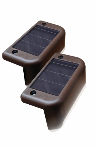 MAXSA Innovations 47332 Brown Solar LED Deck Light, (Pack of 4)