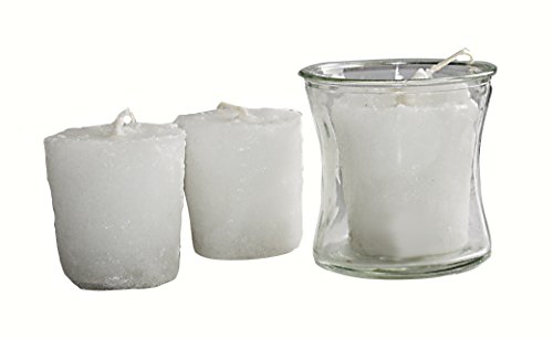 Warm Glow Candle Company Cinnamon Fried Ice Cream Votive Candles with Glass Votive Cup (3 Pack) (Fried Ice Cream Candle compare prices)