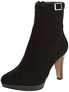 Nine West Women's Fudgeit Suede Boot,Black,6 M US