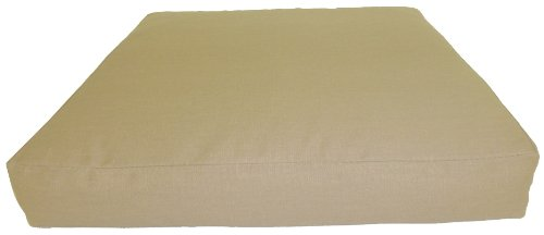 Gartenmöbel Rattan Premium Sitzkissen 80 x 80 cm in der Farbe sand Loungekissen online kaufen