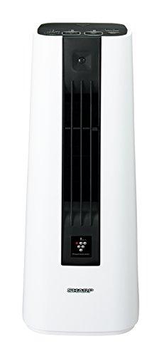 シャープ セラミックファンヒーター プラズマクラスター搭載 人感センサー付 ホワイト HX-ES1-W -