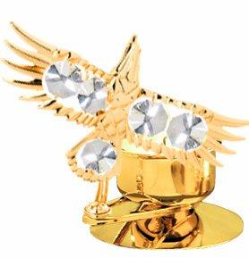 Eagle Tea-Light..... With Clear Swarovski Austrian Crystal front-1069029
