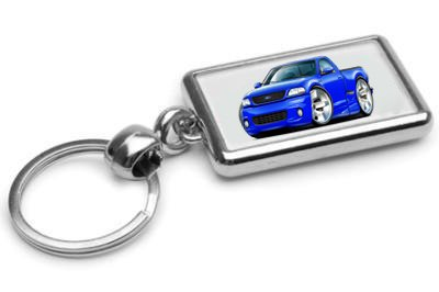1999-04 Ford SVT Lightning F150 Truck Chrome Double Sided Key Ring (2000 Svt Lightning compare prices)