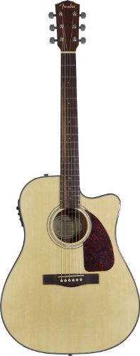 Fender CD-140SCE Dreadnought Acoustic Electric Guitar, Natural