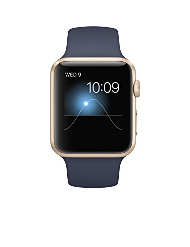 Apple 42mm Smart Watch - Stainless Steel Case/Midnight Blue Sport Band