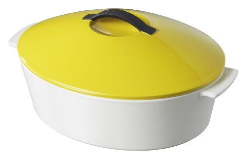 Revolution 642322 Oval Cocotte with Lid, Seychelles Yellow