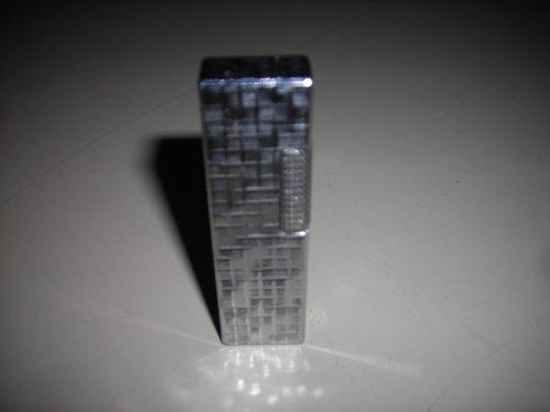 "Old Ronson Varaflame Butane Lighter, Silver Tone, 2 3/4"" Tall"