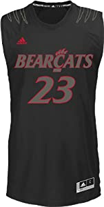 NCAA adidas Cincinnati Bearcats #23 Bleed Out Replica Jersey - Black by adidas