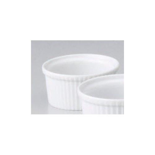 Souffle Plate utw680-50-654 [3.1 x 1.5 inch 3.7floz] Japanece ceramic 3 inch souffle tableware