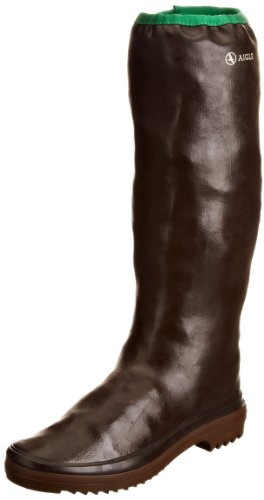 Aigle Women's Rubber Pack Brown/Green Wellingtons Boots 858854 5 UK, 38 EU