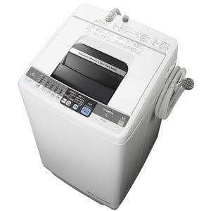 日立 7.0kg 全自動洗濯機(ピュアホワイト)HITACHI 白い約束 NW-7MY-W