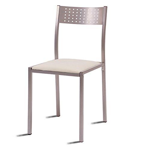 Cuomo silla muy economica y barata de cocina tapizada en for Comedores de madera baratos