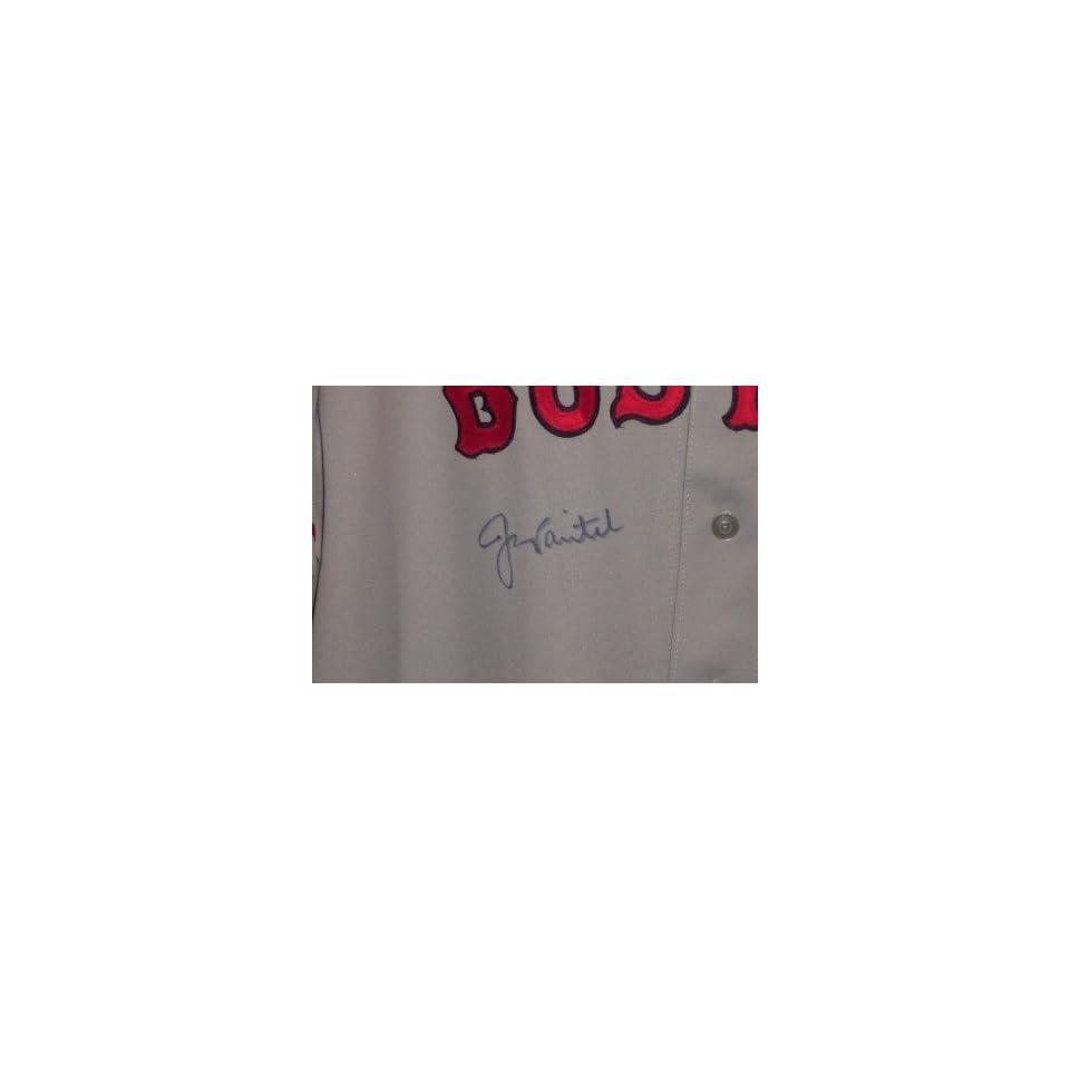 Jason Varitek Autographed Signed Jersey Red Sox JSA