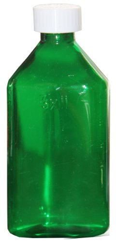 Biorx Green Oval Bottles 1 Oz With Cr Caps (Pack Of 10) front-134791
