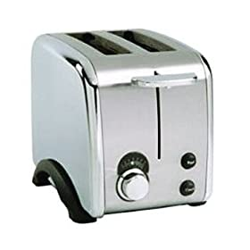 Black and Decker 2 Slice Silver Chrome Toaster