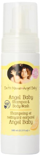 Earth Mama Angel Baby Organic Angel Baby Shampoo & Body Wash, 5.3-Ounce Bottles (Pack of 3)