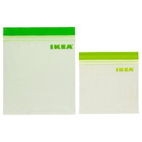 IKEA ISTAD プラスチック袋 60ピース グリーン / イエローグリーン