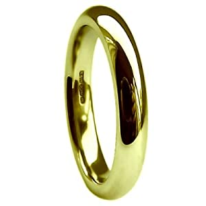 QUALITY UK 9ct Yellow Gold 4mm Extra Heavy Court / Comfort Ring 4.7g Size S