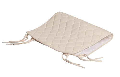 American Baby Company Organic Cotton Quilted Waterproof Sheet Saver, Natural