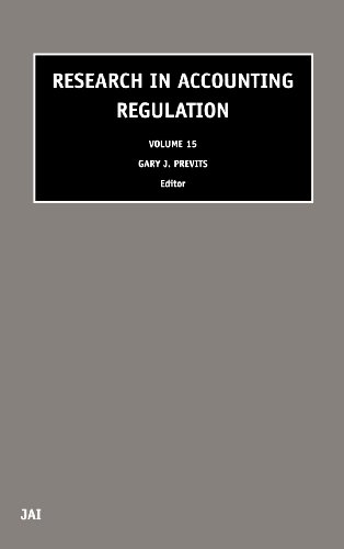 Research in Accounting Regulation, Volume 15