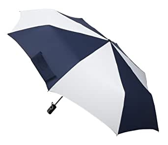 Totes Golf Size Auto-Open/Close Umbrella, Navy and White