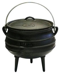 Best Duty Cast Iron Potjie Pot Size 4 - Include complementary Lid Lifter Knob ($9.95 value) (Cast Iron Potjie compare prices)