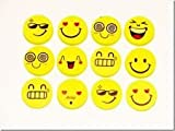 Smiley Erasers 3 Packs of 4 rubbers party bag filler, Childrens stationary